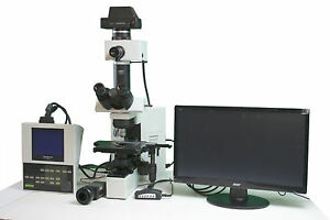 Olympus Bx40 Cy F2 Cytology Microscope 2 Objectives Video Photo Package