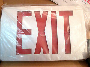 Hubbell Compass Exit Sign With Battery Backup Ccesre Red