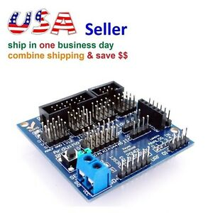 Sensor Expansion Board Shield V5 0 Arduino Uno Mega Digital Analog Servo Motor