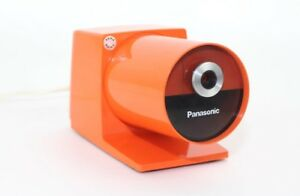 Mid Century Modern Orange Panasonic Pana Point Electric Pencil Sharpener Pop Art