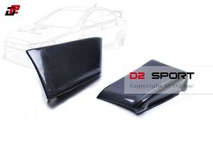 Carbon Fiber Rear Bumper Corner Extensions Fit For Mitsubishi Evolution X Evo 10