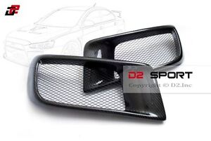 Carbon Fiber Dual Air Intake R Style Front Bumper Ducts For Evolution X Evo 10