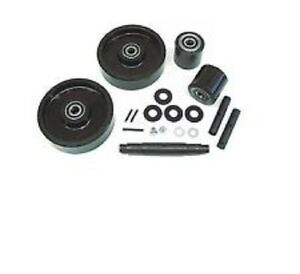 Jet A Pallet Jack Complete Wheel Kit includes All Parts Shown