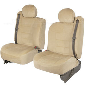 Truck Seat Covers Front Pair Tan Encore Cloth Built in Seat Belt For Chevy Tahoe