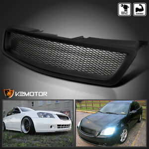Fit 05 06 Nissan Altima Matte Black Mesh Style Bolt on Front Bumper Hood Grille