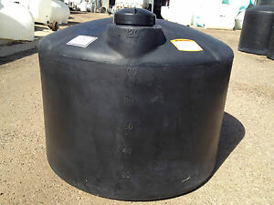 120 Gallon Black Poly Rain Water Harvesting Collecting Tank Norwesco