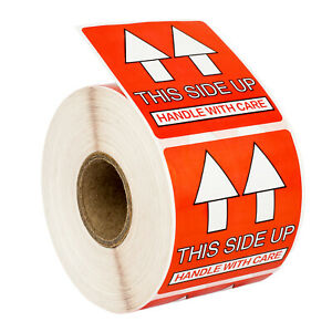 Pre printed This Side Up Labels stickers 2x2 2 X 2 1 Roll Of 500
