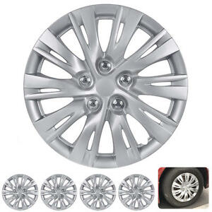 4 Pc Set 16 Hub Caps Silver Fits Toyota Camry 2012 2013 Replica Wheel Cover