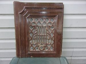 Vgt Cast Iron Enamel Ornate Door Firplace Wood Stove Decor Garden X 29 30