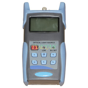 Handheld Adjustable Optical Light Source Fiber Optic Tester 850 1300nm Usb Port