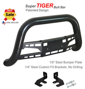 Bull Bar 1994 2001 Dodge Ram 1500 Chrome Guard In Black Stainless Steel Bumper