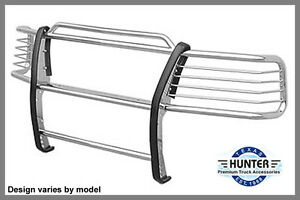 2003 Chevy Avalanche No Cladding Hunter Brush Grill Guard In Chrome Pads New