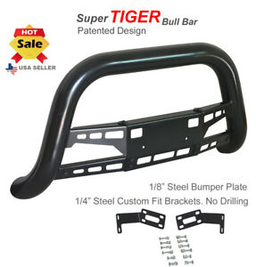 Bull Bar 2003 2005 Dodge Ram 2500 3500 Classic Push Black With Stainless Skid