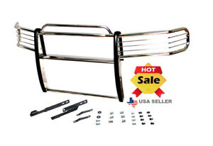 07 13 Chevy Silverado Gmc Sierra 1500 Chrome Stainless Steel Grill Brush Guard
