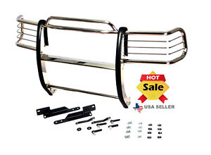 07 14 Chevy Silverado 2500hd 3500hd Chrome Stainless Steel Grill Brush Guard