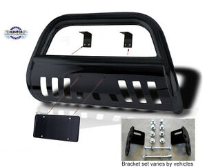 2007 2014 Chevy Chevrolet Avalanche Bumper Guard Push Bull Bar In Black