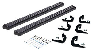 2004 2014 Ford F 150 Super Crew Cab Running Boards Black Nerf Bar Side Step
