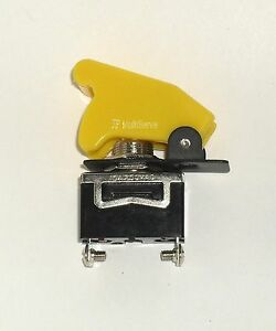 1 Spst On off Full Size Toggle Switch With Yellow Safety Cover