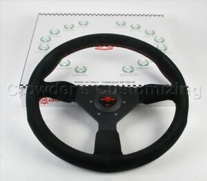 Personal Grinta Steering Wheel 350mm Black Suede Leather Red Stitch 6430 35 2094