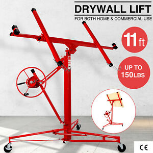11 Drywall Rolling Lifter Panel Hoist Jack Caster Construction Lockable Tool