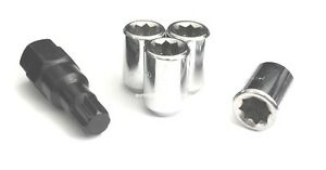 4 1 2 Wheel Locks 8 Point Tuner Lug Nuts 1 2 20 Open End Most Dodge Ford Jeep