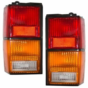 New Pair Of Tail Lights Fit Jeep Cherokee 1984 1996 Ch2801105 4720500 Ch2800105