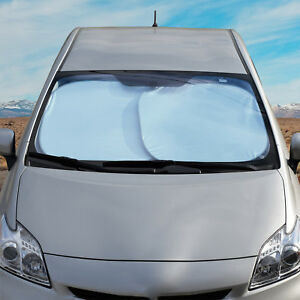 Standard Auto Car Sun Shade Foldable Reflective Metallic Windshield Block Cover