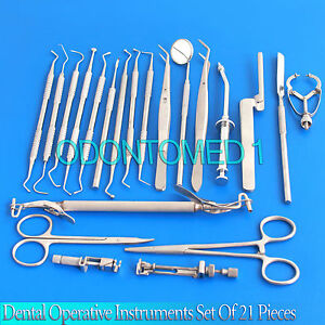 Dental Operative Instruments Dental Composite Filling Instrumen Set Of 21 Dn 525