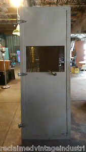 Reclaimed Vintage Industrial Faraday Cage Door From Rca Plant Indianapolis In