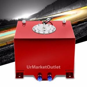 Red Aluminum 8 Gallon 30 5l Gas Fuel Cell Tank Polish Cap Door Level Sender