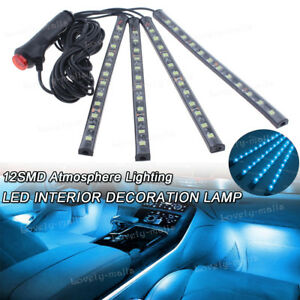 Ice Blue Color Glow Dash Footwell Interior Light 5050 Led Strip Lamp For Hummer