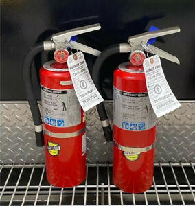 Fire Extinguisher 5lb Abc scratch Dirty Set Of 2