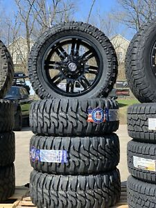 Jeep Wheels And Mud Tires 33 12 5 20 X5 With Spare Federal Couragia Mt New