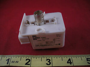Square D 9001 Km31 Ser H Pilot Light Switch Base 6v Ac dc 9001km31 Nos New Nnb