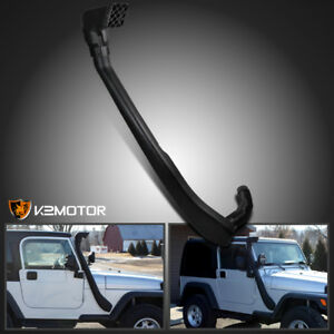 1999 2006 Jeep Wrangler Tj 4 0l Black Ram Head Air Intake Snorkel System Kit 4x4