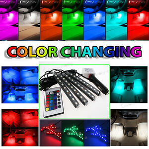 Rgb Color Bar Glow Dash Footwell Interior Light 5050 Led Strip Lamp For Toyota