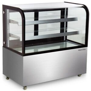 Marchia Mb48 48 Refrigerated Curved Glass Bakery Display Case 1 Year Warranty