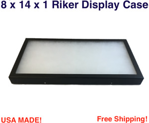 8 X 14 X 1 Riker Display Case Box For Collectibles Arrowheads Jewelry More