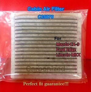 C25876 Charcoal Carbon Cabin Air Filter 07 14 Mazda Cx 9 Ford Edge Lincoln Mkx
