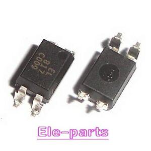 1000 Pcs El817c Sop 4 El817 Pc817 Smd 4 Optocoupler Ic New