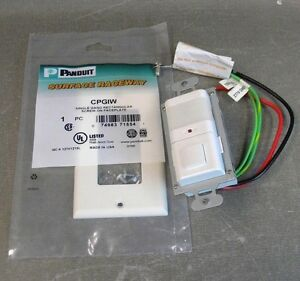 The Watt Stopper Passive Infrared Automatic Wall Switch W panduit Faceplate q1