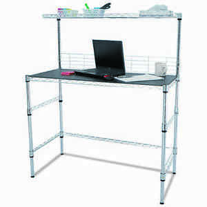 Chrome Wire Computer Workstation And Desk