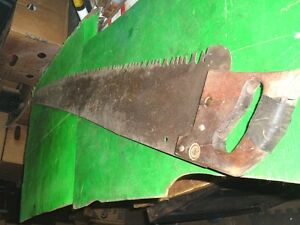 Vtg Rustic 1887 Tool 1 Or 2 Man Cross Cut Saw 48 Blade 53 Paint Picture On
