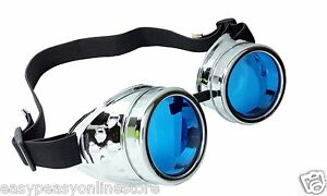 New Steampunk Goggles Retro Cosplay Cyber Vintage Retro Welding Glasses Goth Emo