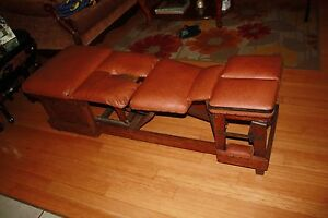 Antique 1912 1925 Vintage Chiropractic Table Aa Griffin