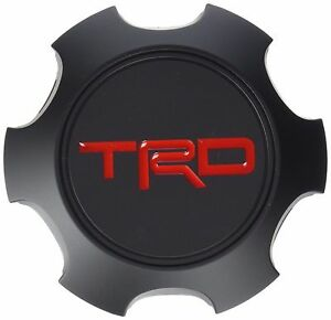 New Toyota Trd Black Wheel Center Caps Ptr2035111bk Tacoma Fj 4runner Genuine