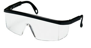 Safety Glasses Clear Lens With Black Frame 100 Polycarbonate 12 box 12 Boxes