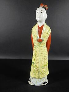 Antique Chinese Famille Rose Statue 10 1 4 Inches