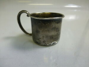 Webster Co Sterling Silver Dated Baby Cup Youth Mug