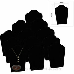 12 5 1 4 Black Velvet Padded Pendant Necklace Display Easel Presentation